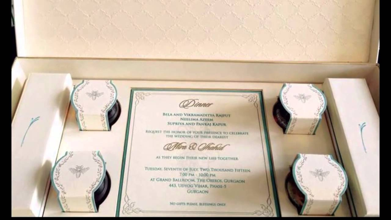 A look at Wedding Invitation Card from recent celebrity wedding